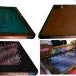 Craps Layout Cloth Before and After Collage Amerifun