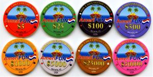 Gaming Cheques Poker Chips Amerifun