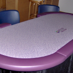 Poker Table 6' Oval Purple Amerifun