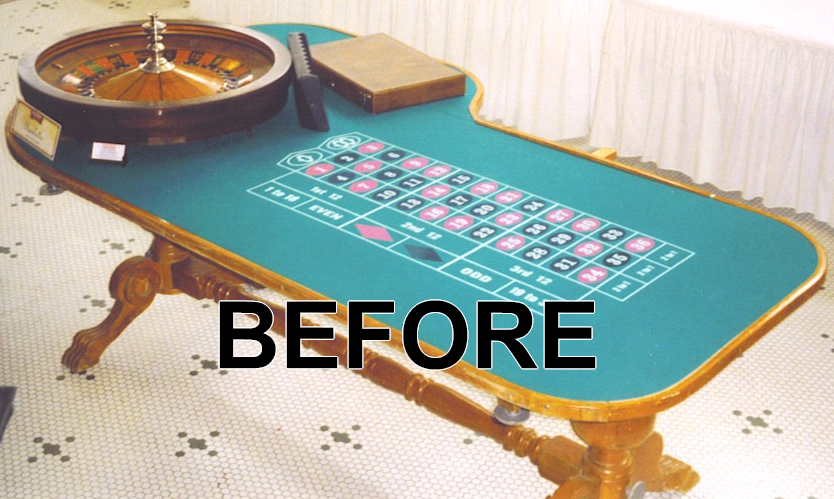 Roulette Wheel Restoration Table Fabrication Corporate