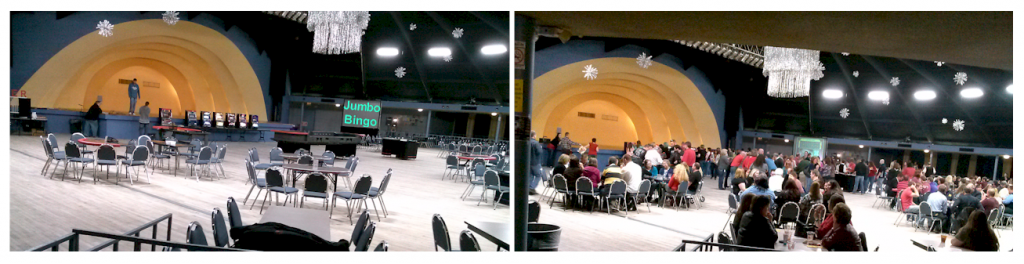 Casino Party Arrangement Before & After Amerifun