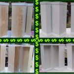 Cashier Cage Boxes before & after primer, Amerifun Prop Fab